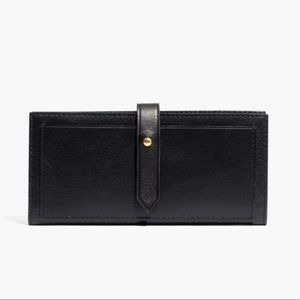 Madewell The Post Wallet Black Leather